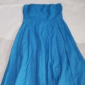 J. Crew - Blue Chiffon strapless dress